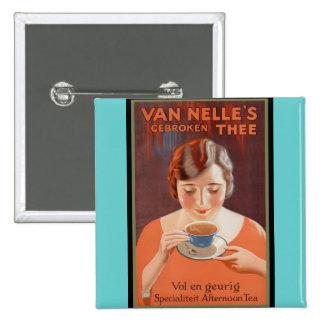Van Nell s - Vintage Tea Advertising Buttons