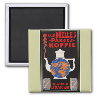 Van Nelle's Coffee - Vintage Advertising 2 Inch Square Magnet