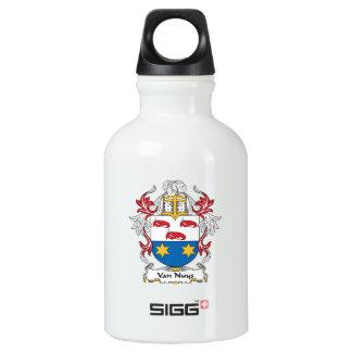 Van Nuys Family Crest Aluminum Water Bottle