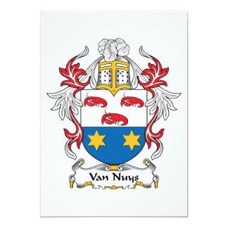 Van Nuys Family Crest Card