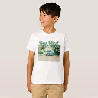 Van Parked on Boca Chica Beach, Key West, FL T-Shirt