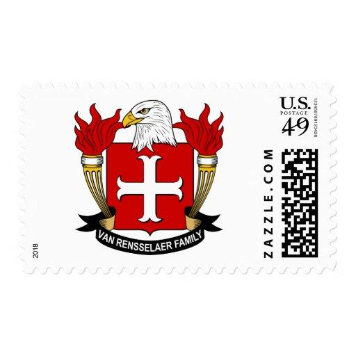 Van Rensselaer Family Crest Postage