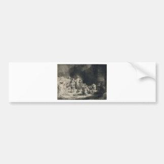 _van_Rijn_-_Christ_with_ de Rembrandt_Harmensz. Pegatina Para Auto