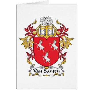 Van Santen Family Crest Card