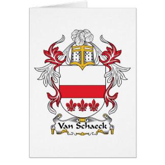Van Schaeck Family Crest Card