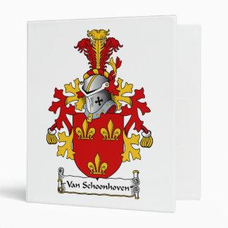 Van Schoonhoven Family Crest 3 Ring Binder