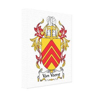 Van Voorst Family Crest Canvas Print