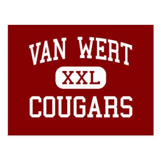 Van Wert - Cougars - High School - Van Wert Ohio Postcard