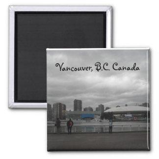 Vancouver, A.C. Canadá Imán Cuadrado