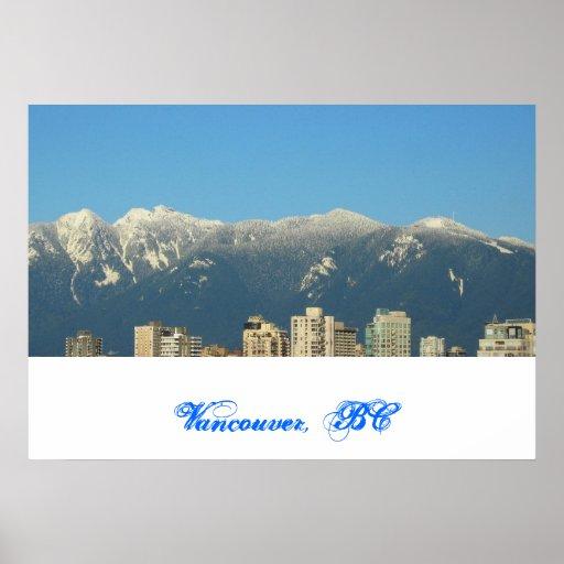 Vancouver, A.C., impresión de Canadá Póster