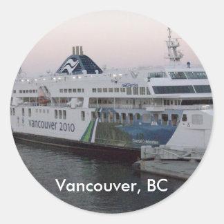 Vancouver, A.C. pegatina del recuerdo del