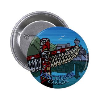 Vancouver abotona arte del tótem de los botones de pin