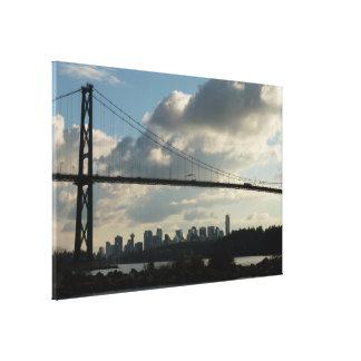 Vancouver Art Print Lions Gate Cityscape Canvas