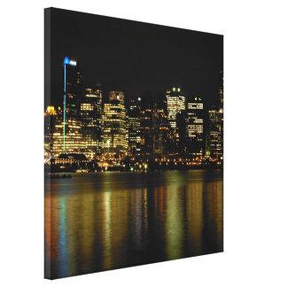 Vancouver Art Print Vancouver Cityscape Canvas