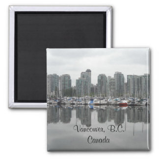 Vancouver, B.C. Canada 2 Inch Square Magnet