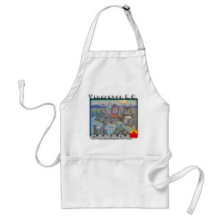 Vancouver B.C Canada Barbeque Cooking Apron