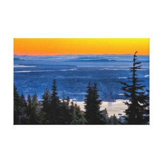Vancouver baja el continente impresion de lienzo