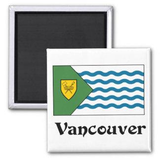 Vancouver, bandera de la Columbia Británica Imán Cuadrado