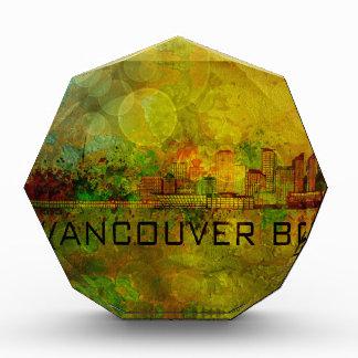 Vancouver BC City Skyline on Grunge Background Ill Award