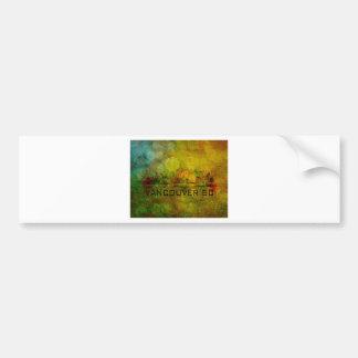 Vancouver BC City Skyline on Grunge Background Ill Bumper Sticker