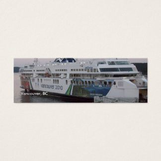 Vancouver, BC ferry bookmark Mini Business Card