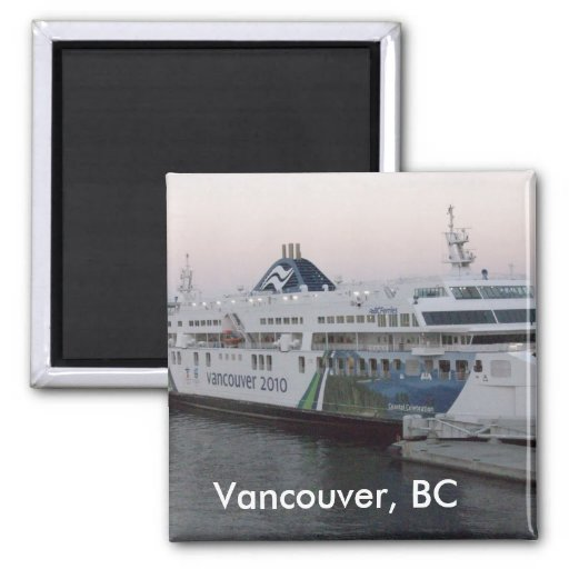 Vancouver, BC ferry fridge magnet