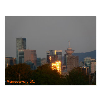 Vancouver, BC - Skyline at Dawn Postcard