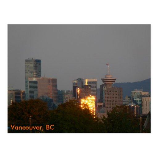 Vancouver, BC - Skyline at Dawn Postcard