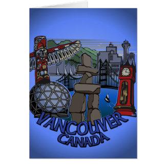 Vancouver BC Souvenir Art Card Landmark Art Card