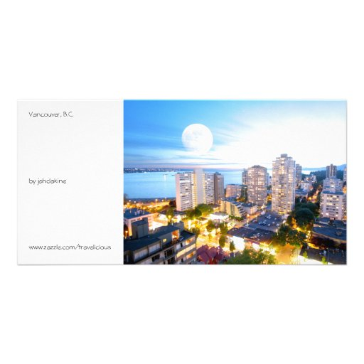 Vancouver, BC - vintage style Customized Photo Card