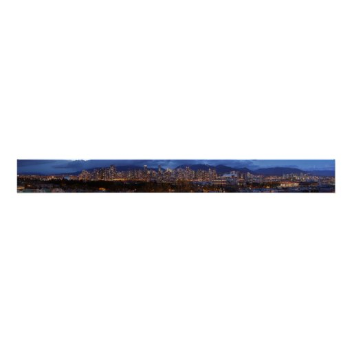 Vancouver British Columbia dusk Panorama Poster