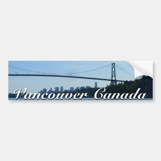 Vancouver Bumper Sticker Vancouver Souvenir Gifts