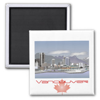 Vancouver Canada 2 Inch Square Magnet