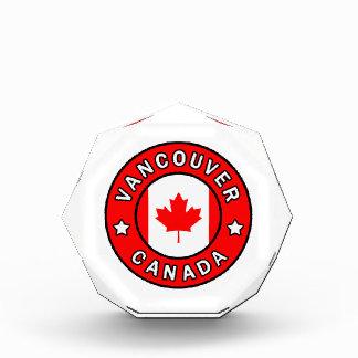 Vancouver Canada Acrylic Award