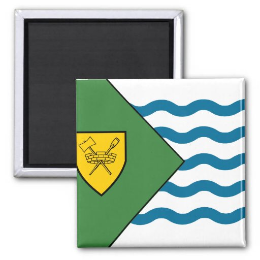 Vancouver (Canada) flag 2 Inch Square Magnet