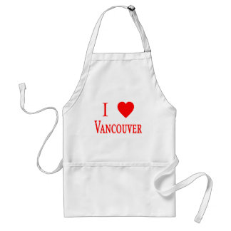 Vancouver Canada I Love Vancouver Adult Apron