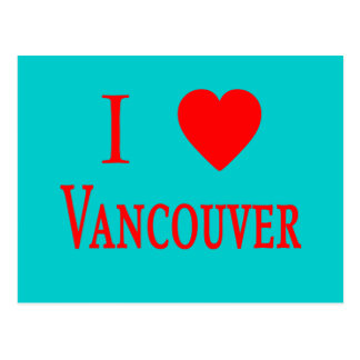 Vancouver Canada I Love Vancouver Postcard