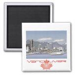 Vancouver Canadá Imán Cuadrado
