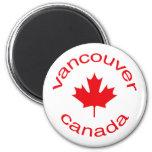 Vancouver Canadá Imán Redondo 5 Cm