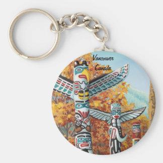 Vancouver Canada Key Chain Totem Pole Souvenirs