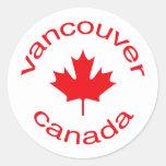 Vancouver Canadá Pegatina Redonda