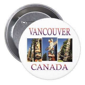 Vancouver Canadá Pin Redondo 7 Cm