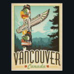 "Vancouver, Canada Postcard<br><div class=""desc"">Anderson Design Group is an award-winning illustration and design firm in Nashville,  Tennessee. Founder Joel Anderson directs a team of talented artists to create original poster art that looks like classic vintage advertising prints from the 1920s to the 1960s.</div>"