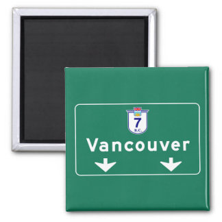Vancouver, Canada Road Sign 2 Inch Square Magnet