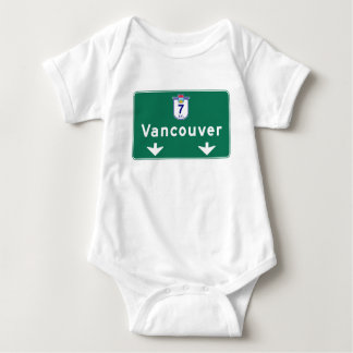 Vancouver, Canada Road Sign Baby Bodysuit