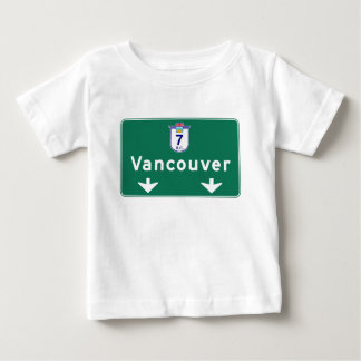 Vancouver, Canada Road Sign Baby T-Shirt