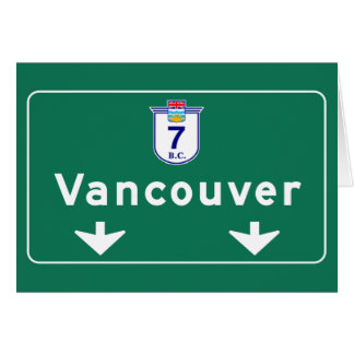 Vancouver, Canada Road Sign Card