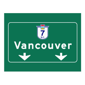 Vancouver, Canada Road Sign Postcard