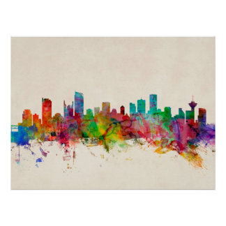 Vancouver Canada Skyline Posters