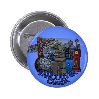 Vancouver Canada Souvenir Buttons Totem Pole Art